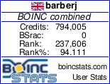 My BOINC project statistics