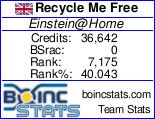 Team Recycle Me Free Einstein@home Project stats